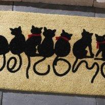Kitties Front Door Doormat