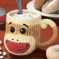 Sock Monkey Coffee Cup