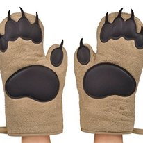 Two Bear Hands Oven Mitts