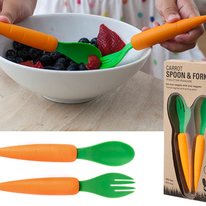 Carrot Fork and Spoon Set for Kids