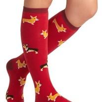 Corgi Dog Women's Knee Socks