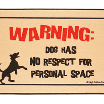 Funny Dog Personal Warming Doormat