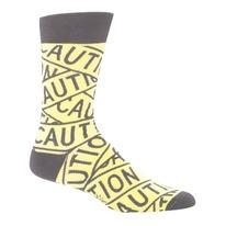 men's caution tape socks