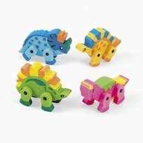 Mini Dinosaur Movable Erasers
