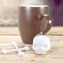 Tea Bones White Skull Infuser