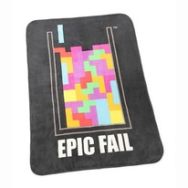 Tetris Fail Throw Blanket