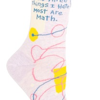 The three things I hate most is math socks