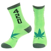 420 weed unisex crew socks