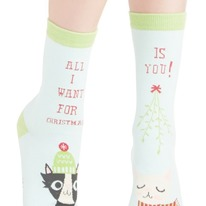 all i want for christmas women's crew socks
