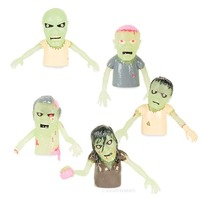 Glow in the Dark finger zombie puppets 5-pack