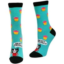 happy birthday cat women's crew socks