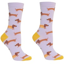 Hot Dogs Women's Crew Socks by Sock It To Me - Adorable Dachshunds