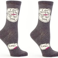I Am Going To Get Shit Done Later Crew Socks