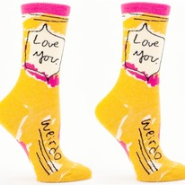 Love You Weirdo Crew Socks