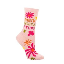 Men Ruin Stuff Fun Printed Women's Crew Socks