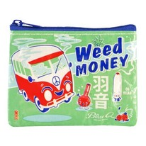 Weed Money Coin Purse or Small Storage Pouch
