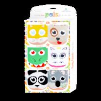 Kids Funky Friends Pals Socks: 3-Pack Gift Box