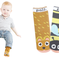 Kids Toddlers Bear & Bee Pals Socks