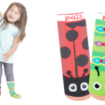 Kids Toddlers Ladybug & Caterpillar Pals Socks