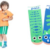 Kids Toddlers T-Rex & Triceratops Dino Pals Socks