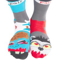 Men's Werewolf & Zombie Pals Frenemy Socks