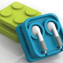 Block Earphone Holder Case Organizer