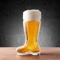 Durable Half Liter Glass Beer Boot