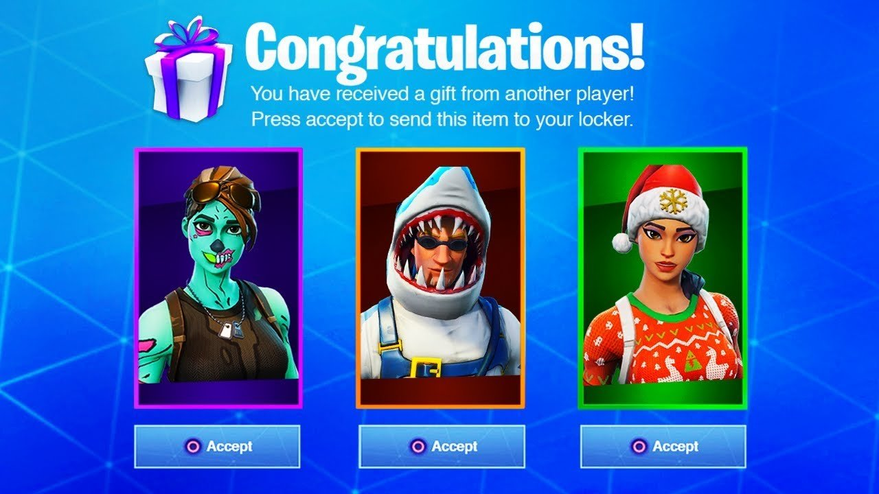 - how to send gifts in fortnite xbox