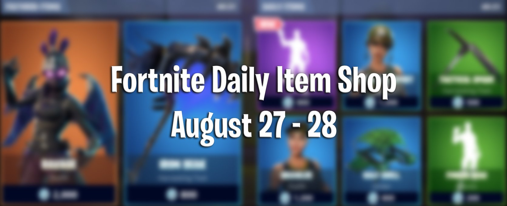 Fortnite Daily Item Shop And Items For Today August 27th To The 28th