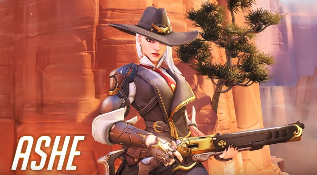 new overwatch hero 29 ashe and mccree cinematic revealed at blizzcon