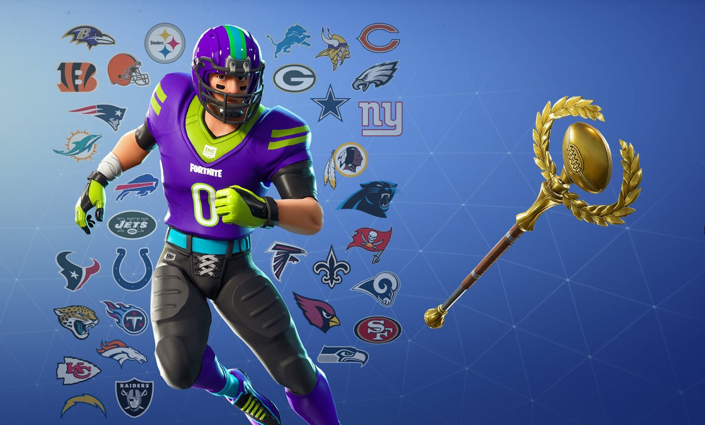 Fortnite Nfl Football Skins Glider Pickaxes And Emotes Leaked In
