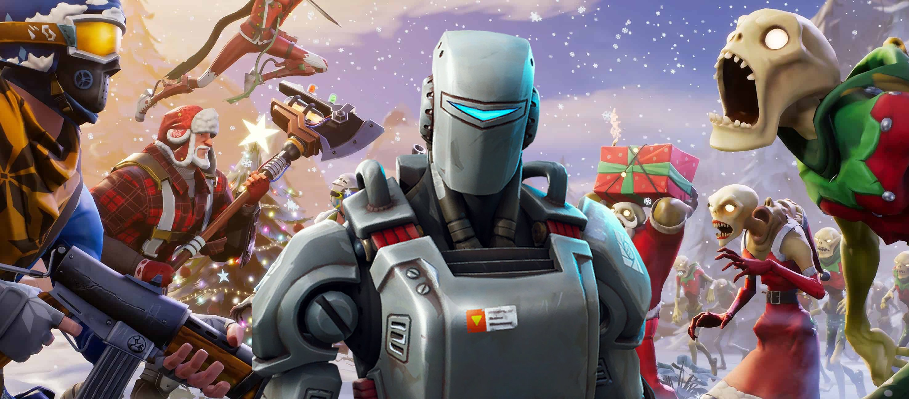 Fortnite A I M Hunting Party Skin Hinting At Future Winter Map