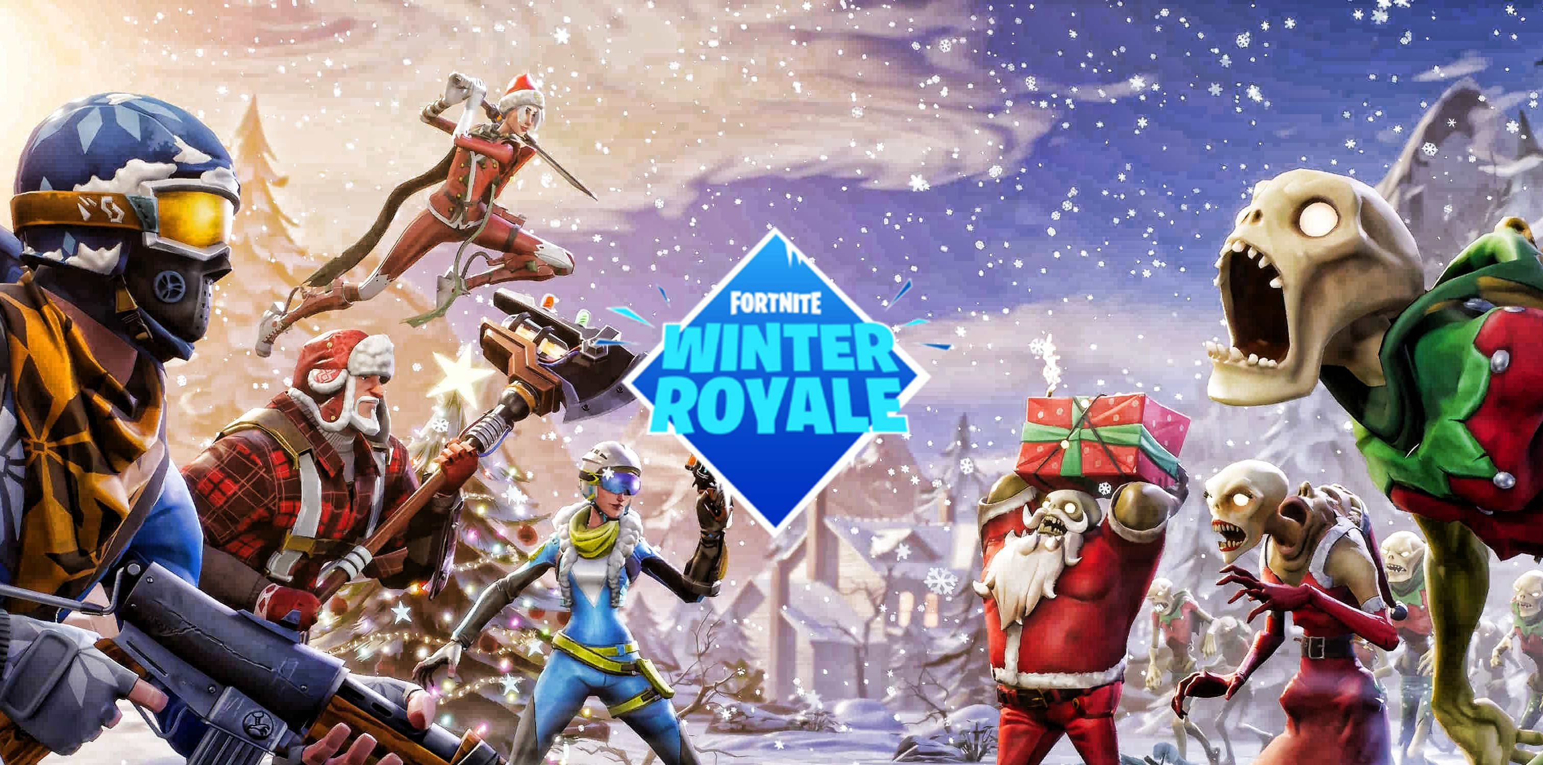 who qualified for the fortnite winter royale current. Black Bedroom Furniture Sets. Home Design Ideas
