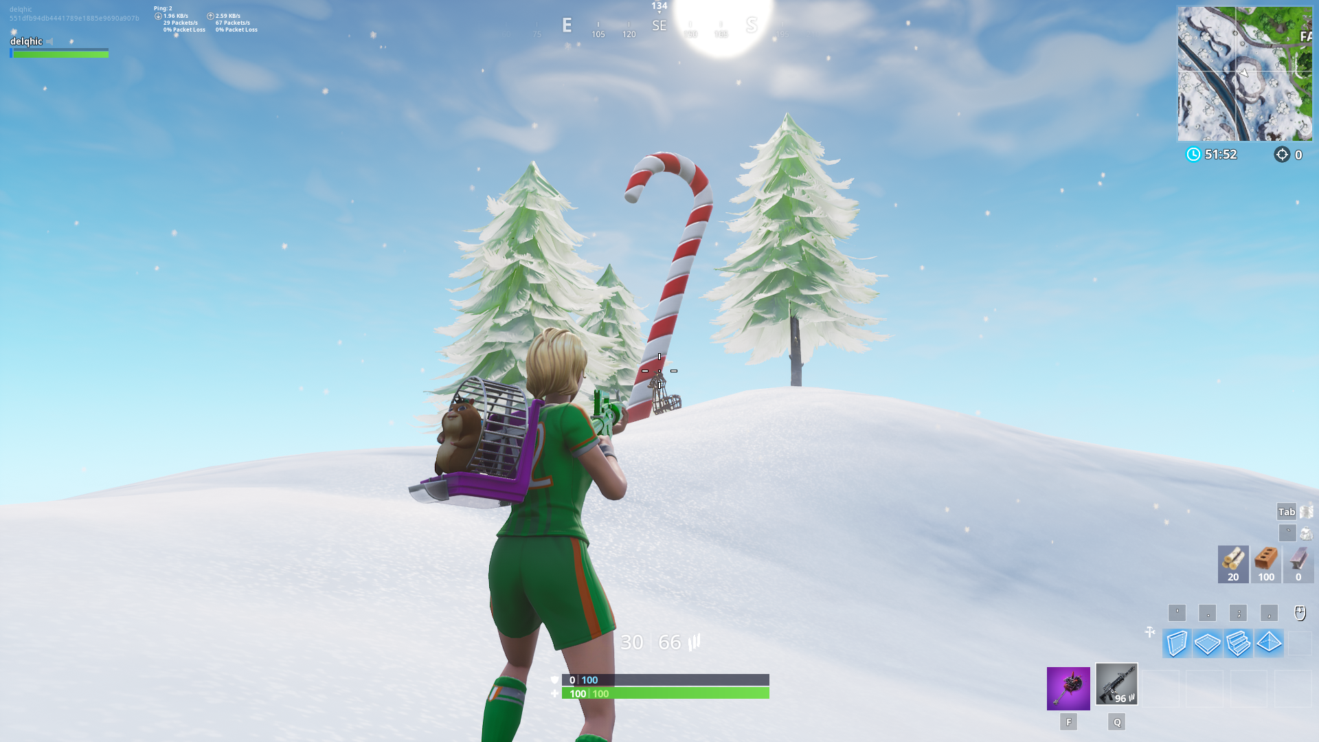 Giant Candy Cane Fortnite Locations 14 Days Of Fortnite Day 2