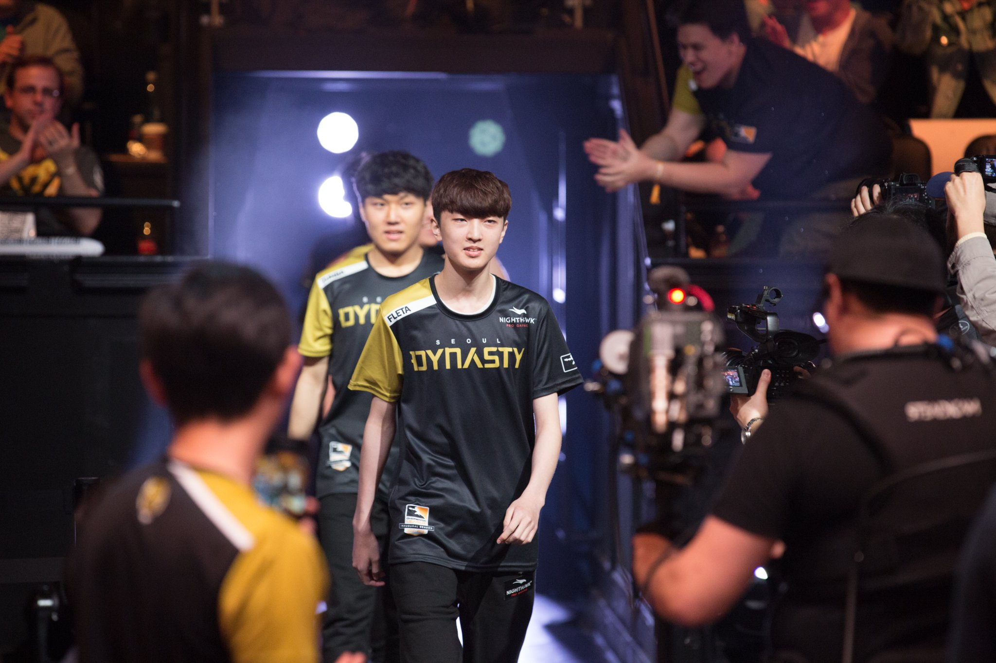 FLETA making his into the Overwatch League arena.
