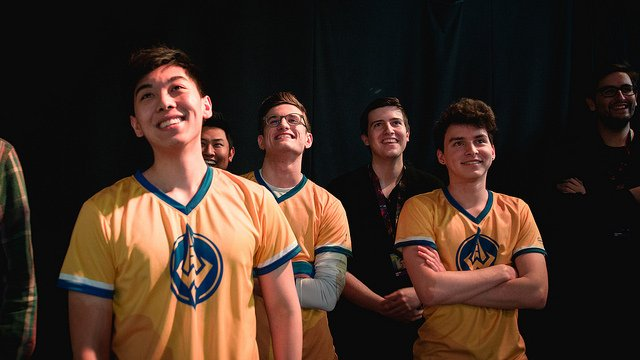 The Golden Guardians share a laugh backstage (LoL Esports Photos, Flickr)