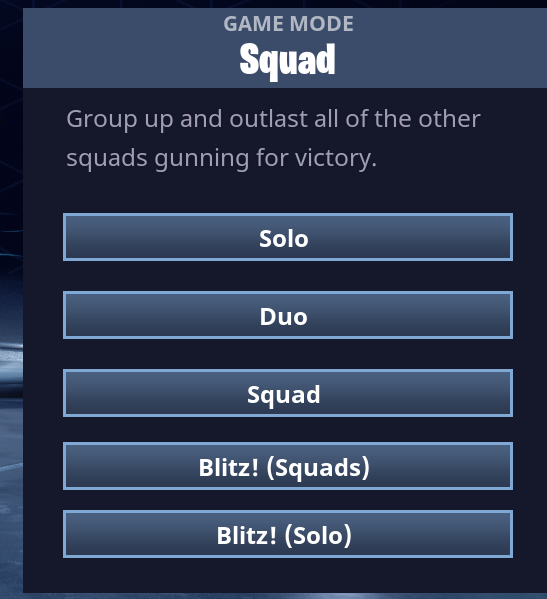 You can run solo or with your regular teams in the current iterations of Blitz Mode
