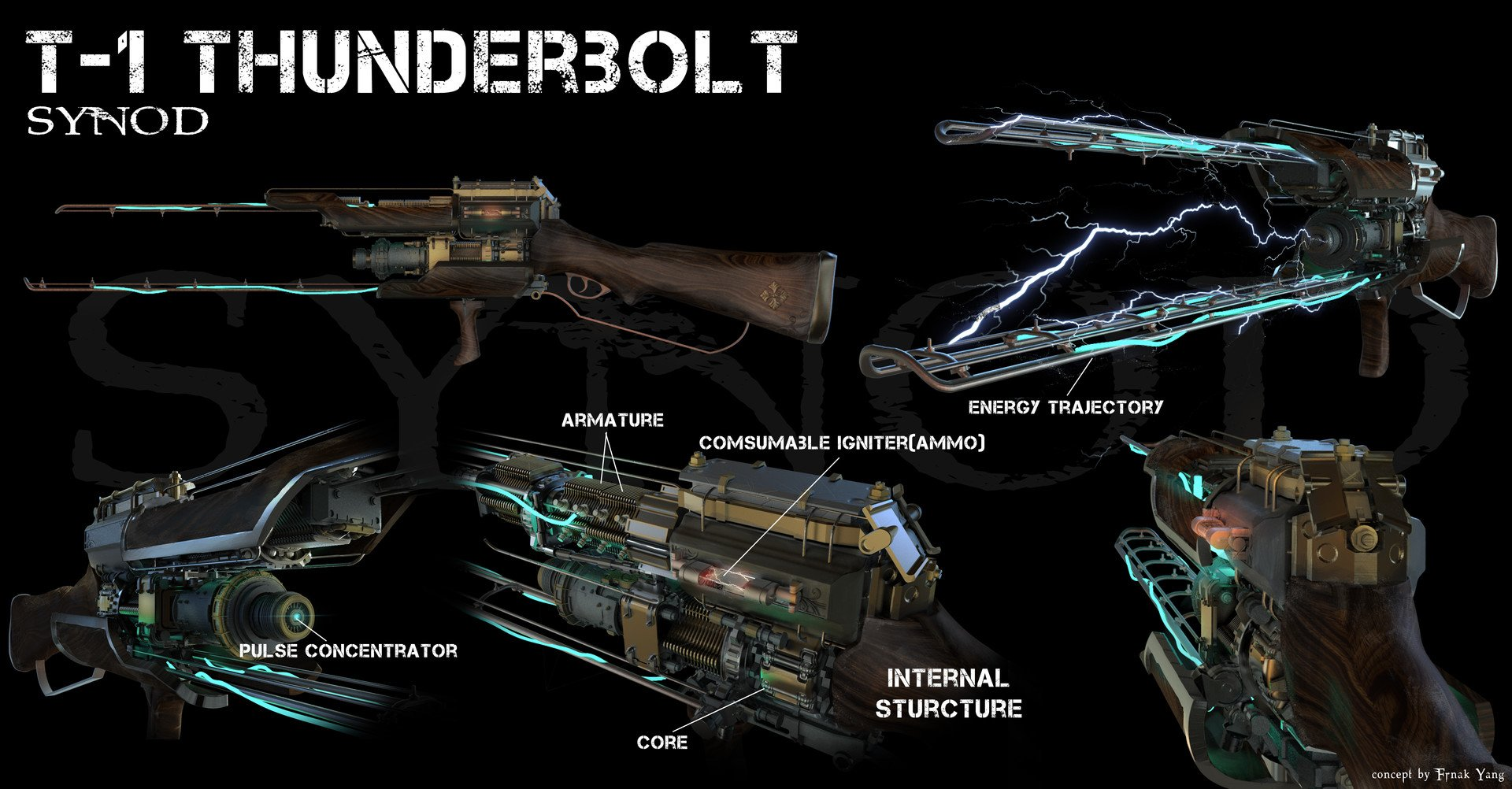 T-1 Thunderbolt Concept by Frank Yang.