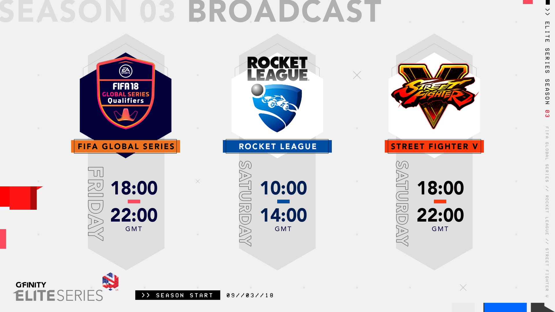 The official schedule for Gfinity Elite Series Season 3. (Source: Gfinity)