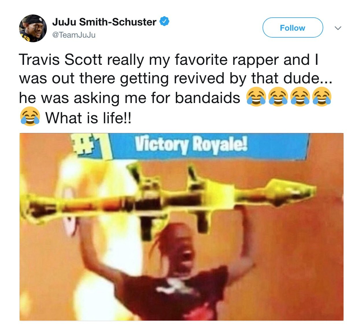bf250cd713048e Travis Scott revives JuJu Smith-Schuster in Fortnite