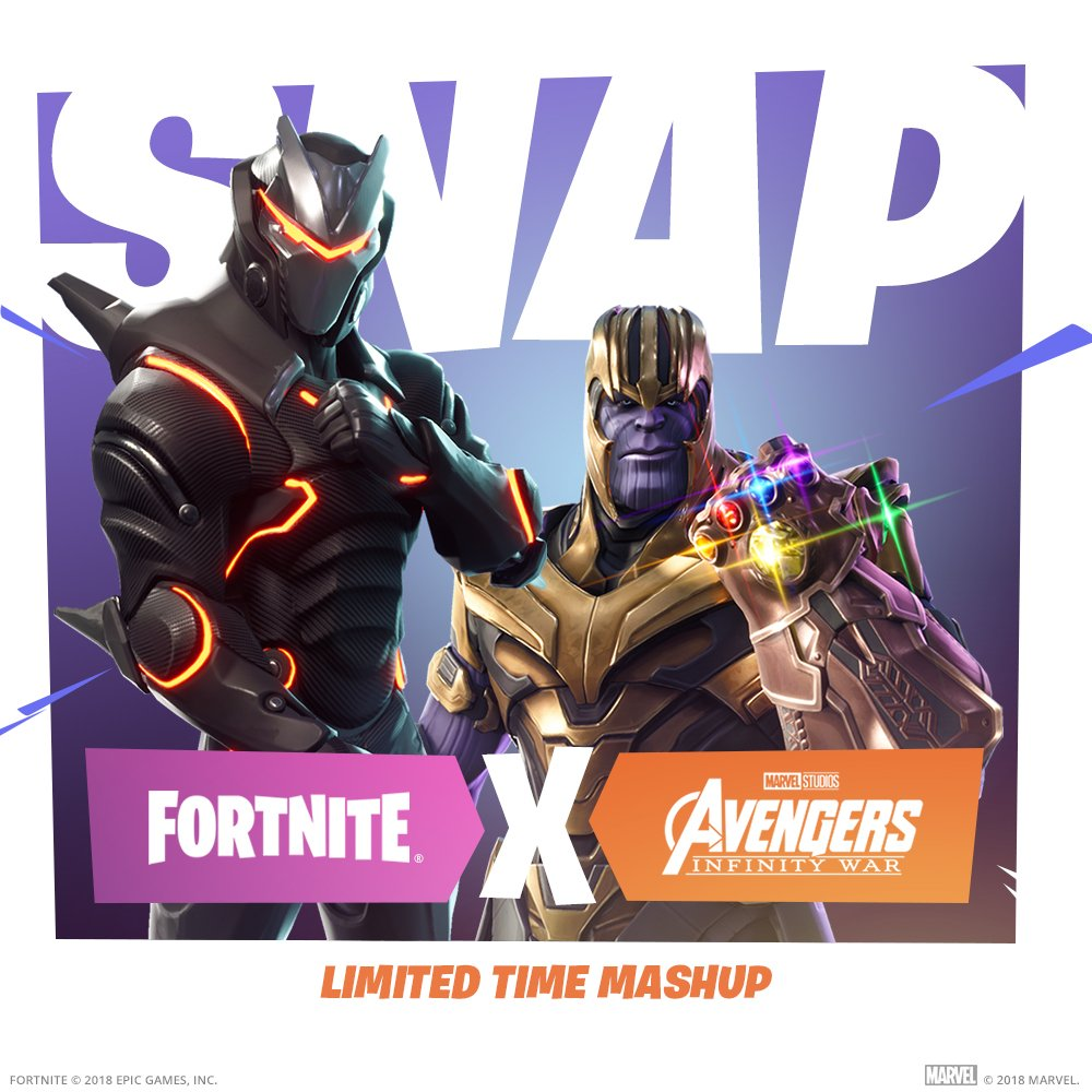 After cleaning out half the Avengers, Thanos arrives to take over Fortnite