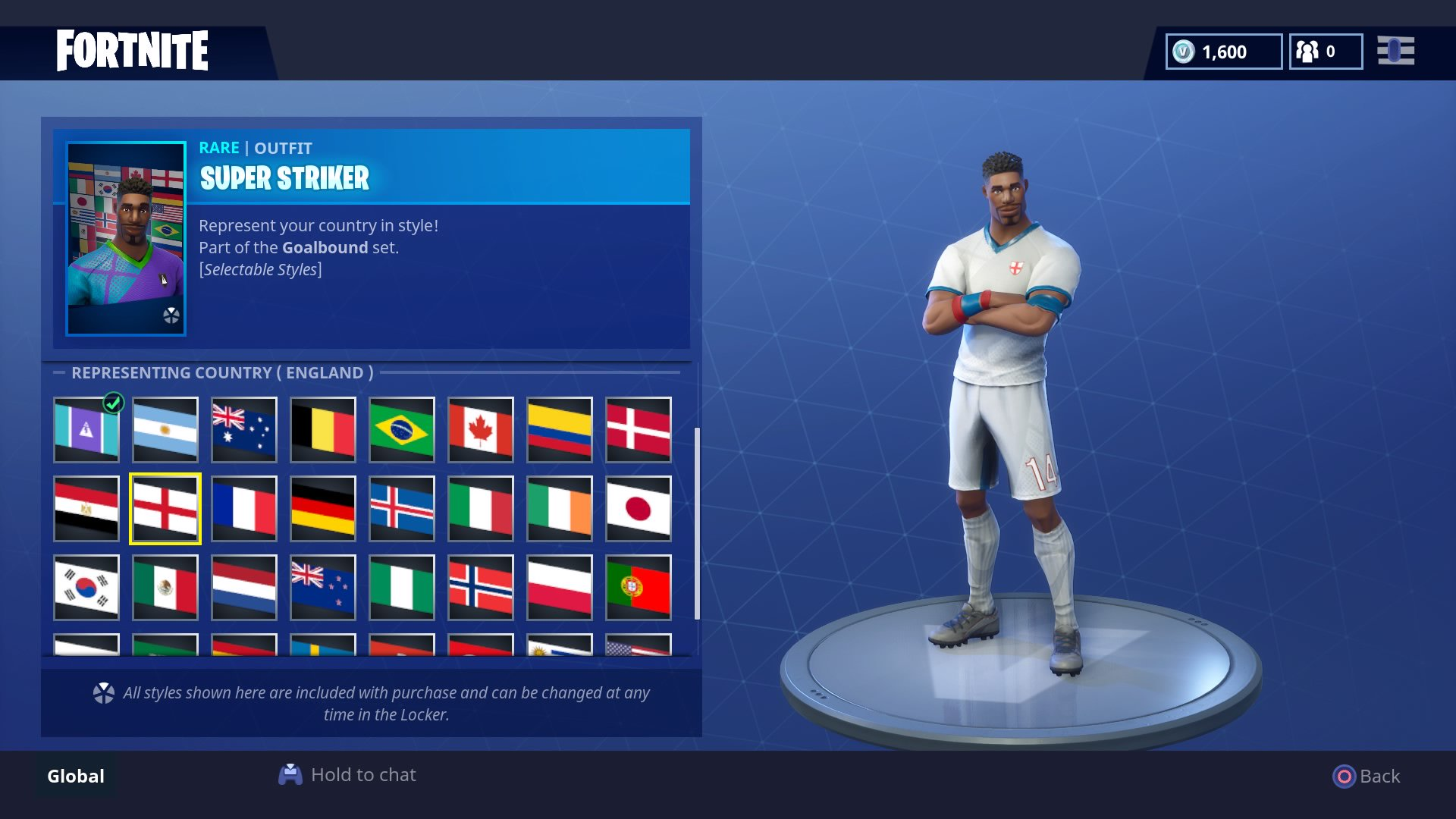 the skins and kits look fantastic but it s unfair that so many countries in the world cup aren t represented - every fortnite skin ever made