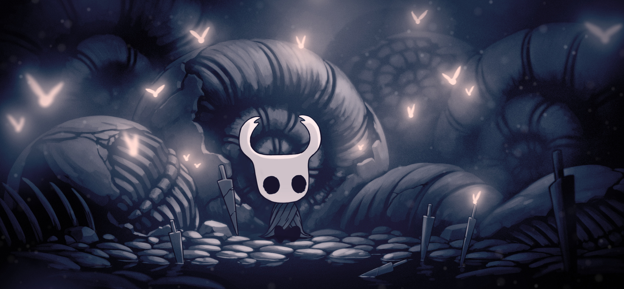 Hollow Knight is about overcoming great odds and trying to feel significant.