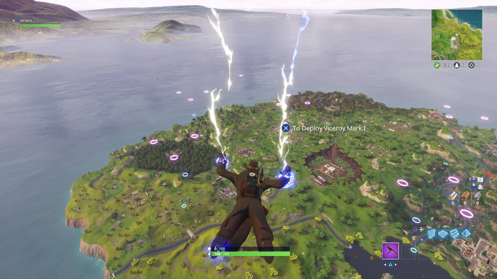 there s glowing rings over every major named location - rings fortnite