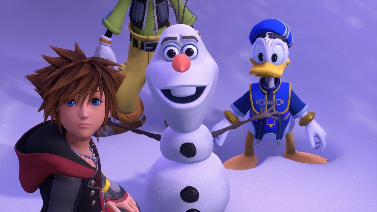Then we can see Olaf in Kingdom Hearts 3 in really high resolution.