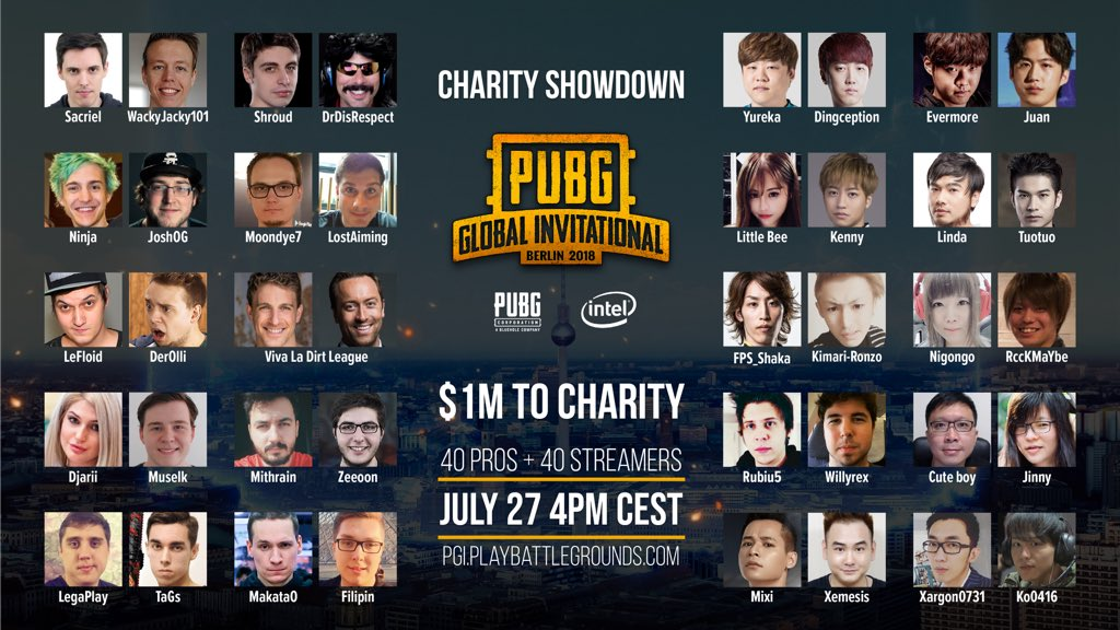 PUBG Global Invitational PGI 2018 Charity Showcase