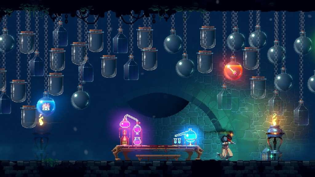 Much like Dead Cells players have to collect various items, Henpaku had to build his knowledge about the game.