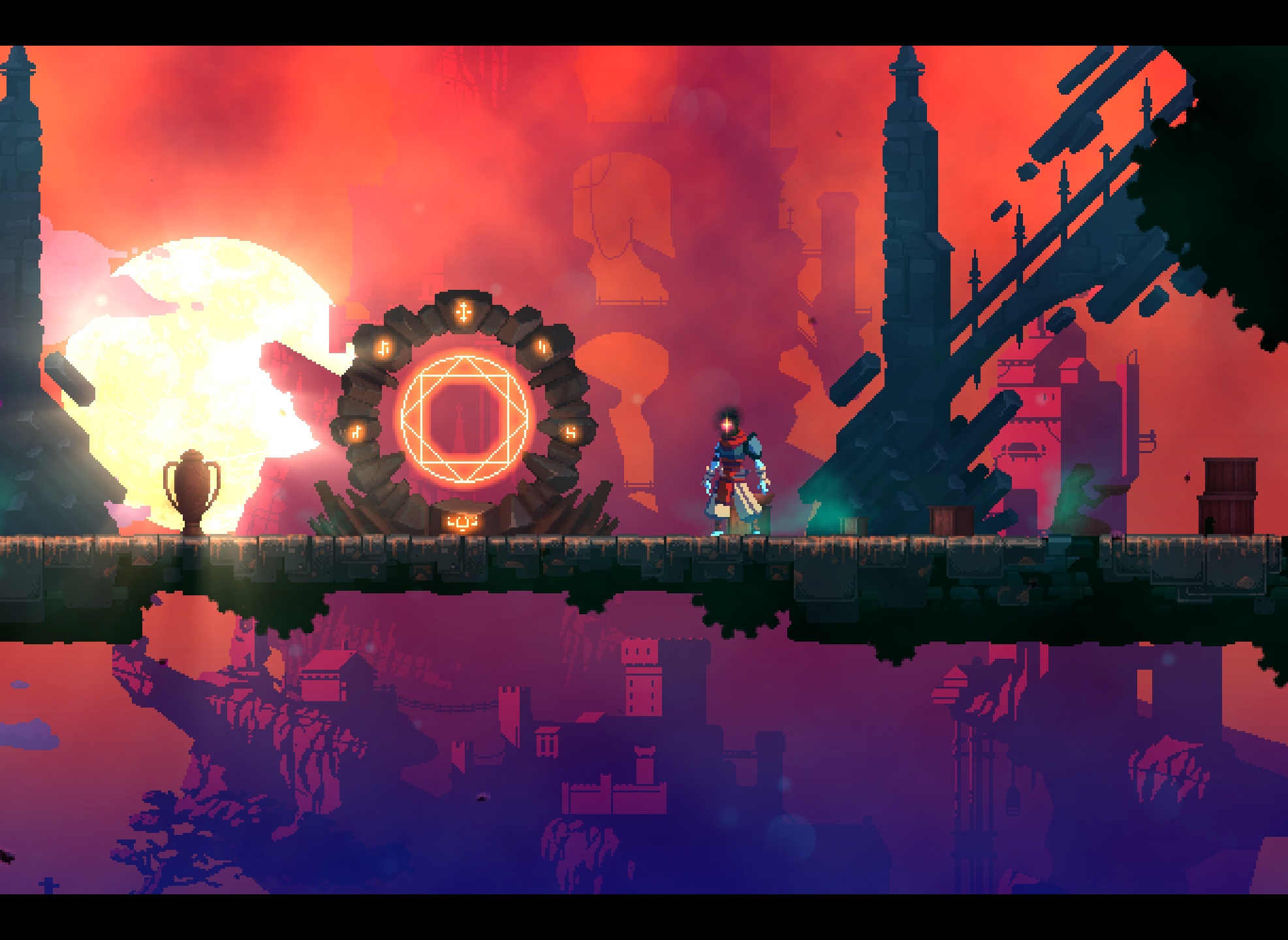 Dead Cells draws inspiration from Metroidvania hits with rogue-like flair. This style is what drew Henpaku in.