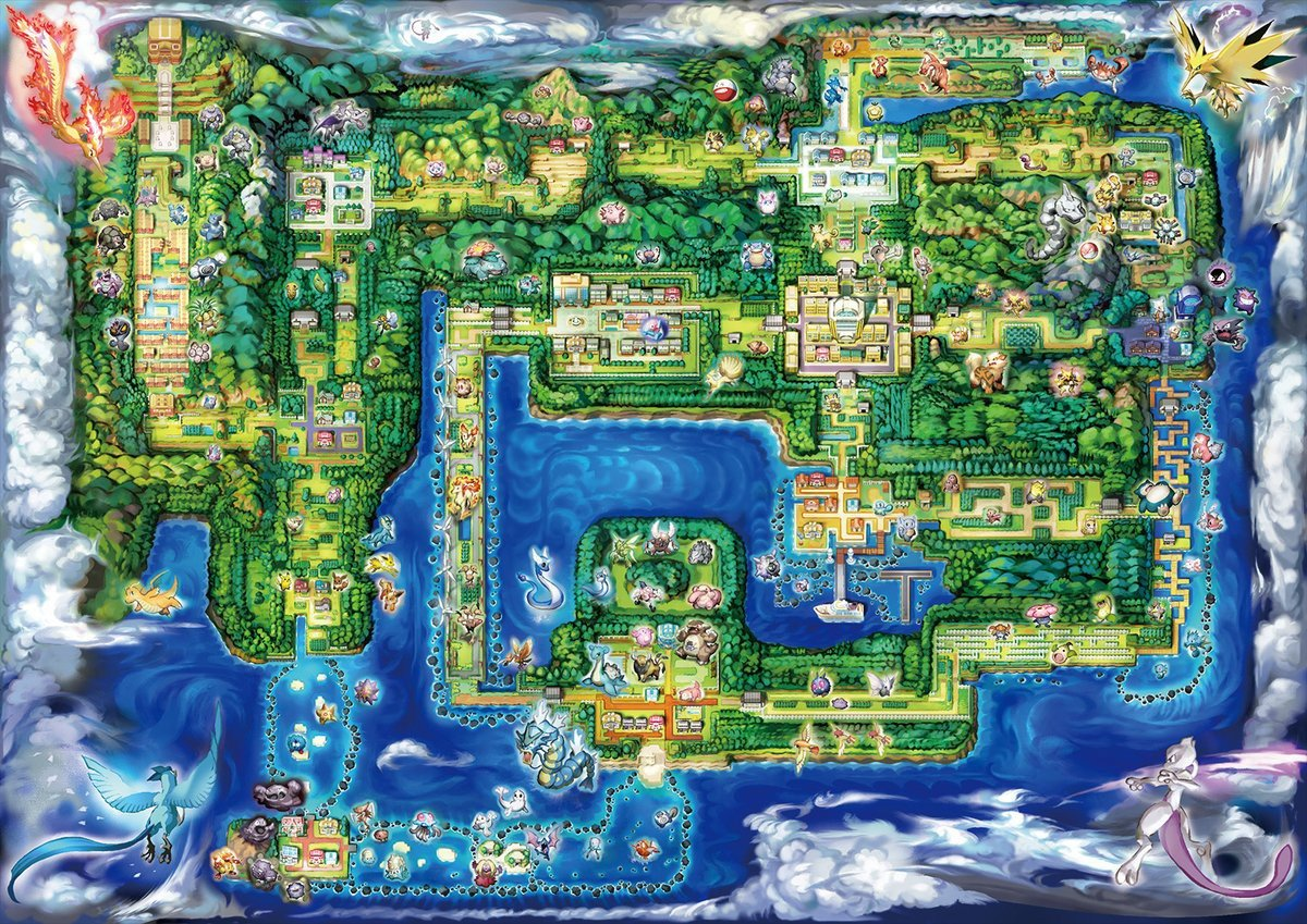 The map in Pokemon Let's Go is nearly identical to Gen 1.