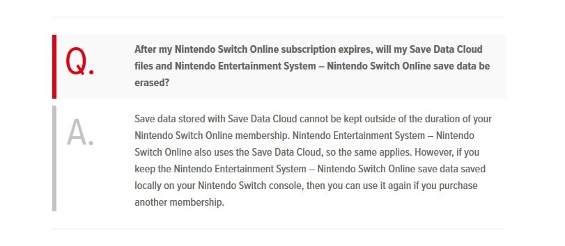 Nintendo Switch Online Service May Delete Cloud Saves On Expired